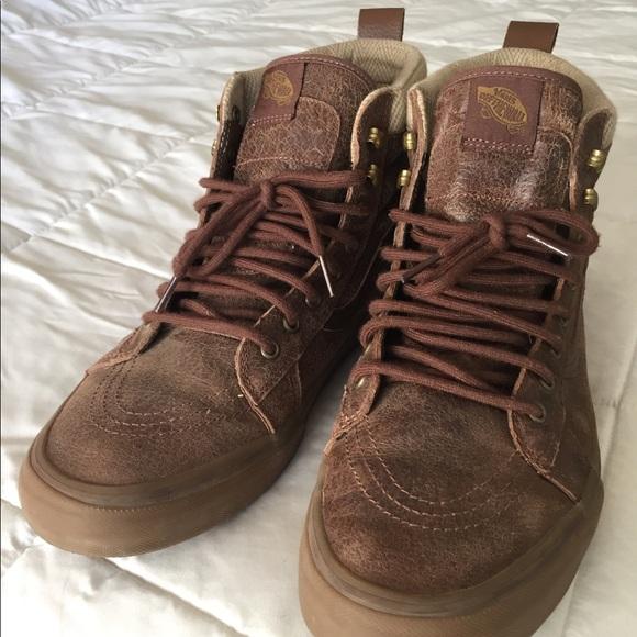 Vans SK8 MTN Brown Leather Shoes (size 13). M 5a70afeff9e501ed1e0104ab 0f6ee0e24932
